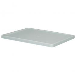 Stülpdeckel für Gläserkorb, PE-HD, LxB 600 x 400 mm, kieselgrau