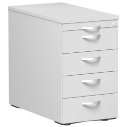 Standcontainer, 5 Schubladen, lichtgrau, BxTxH 438x800x720 mm