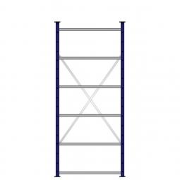 Ordner-Steck-Grundregal, einseitige Ausführung, HxBxT 2000x870x315 mm, Oberfläche kunststoffbeschichtet