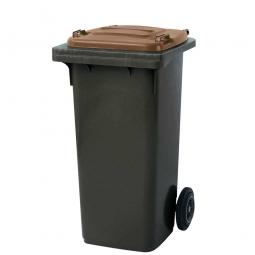 120 Liter MGB, Müllbehälter in anthrazit mit braunem Deckel