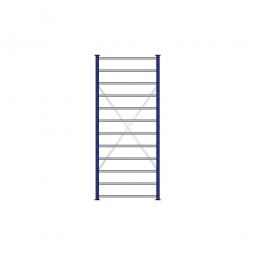 Fächerregal Flex, Stecksystem, kunststoffbeschichtet, BxTxH 870 x 415 x 2000 mm