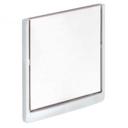 Türschild aus ABS-Kunststoff mit aufklappbarem Sichtfenster, BxH 149 x 148,5 mm, weiß