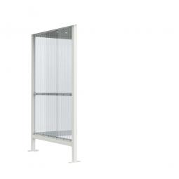 1x Seitenwand, grauweiß RAL 9002, ideales Zubehör für Raucher- und Pausenunterstände Nr. 75835 + 75837