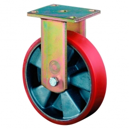 Schwerlast-Bockrolle, Rad-ØxB 100x30 mm, Tragkraft 200 kg