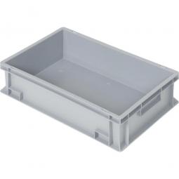 Eurobehälter mit 2 Griffleisten, LxBxH 600x400x150 mm, 27 Liter, grau