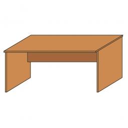 Schreibtisch mit geschlossenen Seitenwangen, Platte Buche, BxTxH 800 x 800 x 720 mm