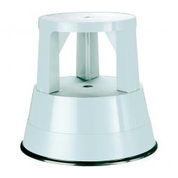 Rolltritt aus Kunststoff, weiß, Tragkraft 150 kg, Ø 290/440 mm, Höhe 430 mm