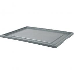 Stülpdeckel für Euro-Stapelbehälter, 800x600 mm, Farbe grau