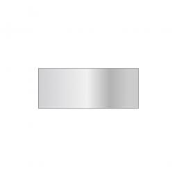 Fachboden für Steckregal, glanzverzinkt, Tragkraft 150 kg, BxT 1000 x 400 mm, mit 4 Fachbodenträgern
