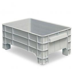 Volumenbox mit 4 Füßen, 150 Liter, LxBxH 1030 x 630 x 440 mm, grau