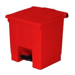Tret-Abfallbehälter, 30 Liter, rot, BxTxH 415 x 400 x 435 mm