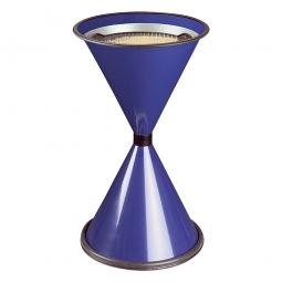 Sicherheits-Standascher, blau, HxØ 770x405 mm, Stahlblech, kunststoffbeschichtet