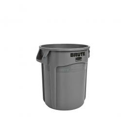 Runder Brute Container, 38 Liter, grau