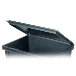 Scharnierdeckel für leitfähige Stapelbehälter, LxB 400x300 mm, schwarz