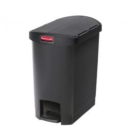 Tretabfalleimer SlimJim, 30 Liter, schwarz, LxBxH 497x312x566 mm, Polyethylen, Pedal an der Schmalseite