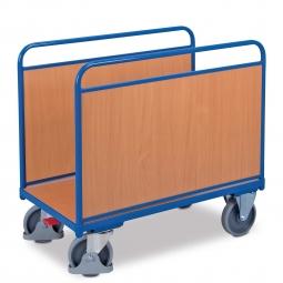 Rungenwagen mit 2 Holzwänden, LxBxH 1260x800x1025 mm, Tragkraft 500 kg