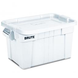 Eckiger Mehrzweckbehälter von Rubbermaid mit Schnappverschluss-Deckel, Inhalt 75,5 Liter, weiß