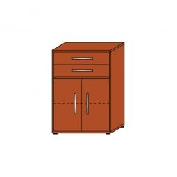 Schrank mit Schubladen, 3 OH, Kirsche, HxBxT 1120x800x420 mm