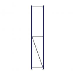 Regalrahmen für Weitspannregale, Stecksystem, fertig montiert, TxH 400 x 3000 mm, Rahmenbreite 40 mm