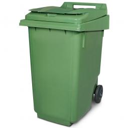 Müllbehälter, 360 Liter, grün, BxTxH 600 x 875 x 1100 mm, Polyethylen (PE-HD)