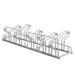 Fahrrad-Bügelparker, feuerverzinkt, Einstellplatz für 10 Fahrräder, zweiseitige Nutzung