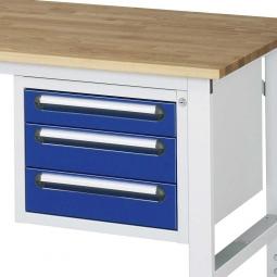 Unterbau-Container für Arbeitstisch, BxTxH 490x600x395 mm, mit 3 Schubladen