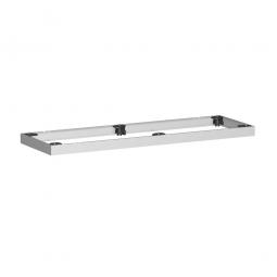 Metallsockel, alusilber, BxH 1200 x 50 mm