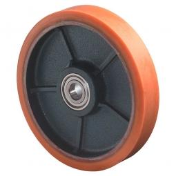 Polyurethanrad, Rad-ØxB 250x60 mm, Tragkraft 1400 kg, rot