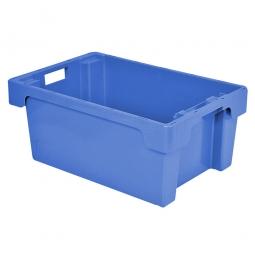 Drehstapelbehälter, LxBxH 600 x 400 x 250 mm, 40 Liter, blau