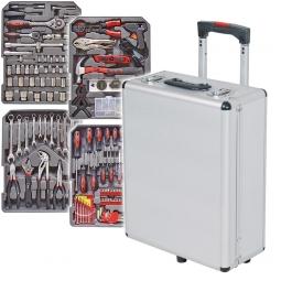 Alu-Werkzeugtrolly mit 1050 Teilen, Werkzeug aus Chrom-Vanadium-Stahl