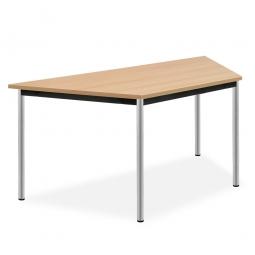 Trapeztisch, Platte Buche, BxTxH 1400x700x720 mm