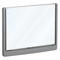 Türschild aus ABS-Kunststoff mit aufklappbarem Sichtfenster, BxH 210x148,5 mm, graphit