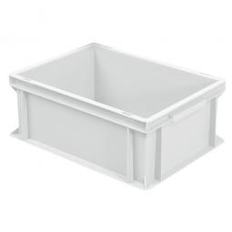 Euro-Stapelbehälter mit 2 Griffleisten, LxBxH 400 x 300 x 170 mm, 16 Liter, weiß