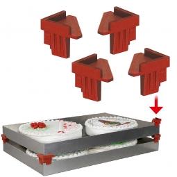 Stapelecke zum Aufstecken auf Kuchenbleche, temperaturbeständig -40° bis +280°C, Paket = 4 Ecken