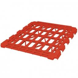 Kunststoff-Zwischenboden für 3-seitige Rollbehälter, rot