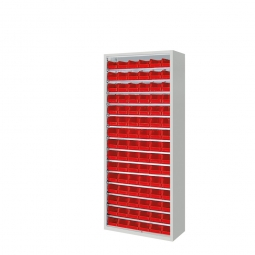 Schrank mit Sichtboxen, ohne Türen, HxBxT 1690x700x300 mm, lichtgrau RAL 7035