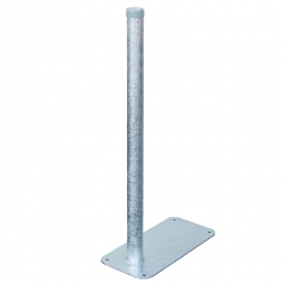 Ständer für Abfallbehälter, feuerverzinkt, zum Aufschrauben
