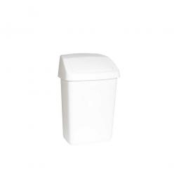 Schwingdeckel-Abfallbehälter, 10 L, weiß