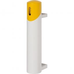 Design-Ascher, HxT 510 x 170 mm, weiß-gelb