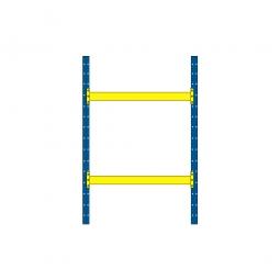 Palettenregal mit 2 Paar Tragbalken für 6 Europaletten, Fachlast 2400 kg/Tragbalkenpaar, BxTxH 2025 x 1100 x 3000 mm
