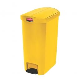 Tretabfalleimer SlimJim, 50 Liter, gelb, LxBxH 528x344x721 mm, Polyethylen, Pedal an der Schmalseite