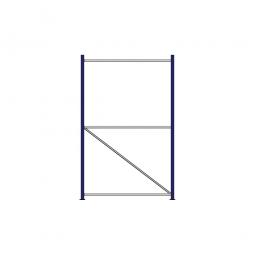 Regalrahmen für Weitspannregale, Stecksystem, fertig montiert, TxH 1200 x 2000 mm, Rahmenbreite 40 mm