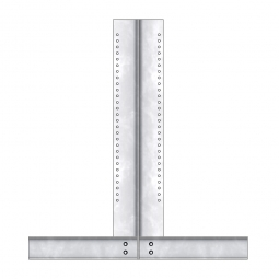 Kragarmregalständer, doppelseitig, TxH 966 x 2000 mm, Nutztiefe 2x 400 mm