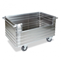 Transportwagen aus Leichtmetall, 945 Liter, LxBxH 1680x930x972 mm, Tragkraft 400 kg