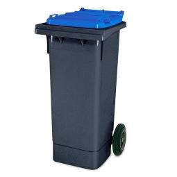 80 Liter MGB, Müllbehälter in anthrazit mit blauem Deckel