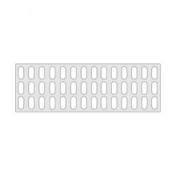 Gitterregalboden aus Kunststoff (Polystyrol), BxT 1450x480 mm, bestehend aus 3 Bodensegmenten