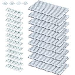 Bodenrost-Set, 25-teilig, weiß, 3,4 m²