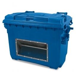 Streugutbehälter mit Entnahmeöffnung, Inhalt 660 Liter, blau, BxTxH 1360 x 765 x 1000 mm