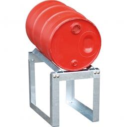 Fassbock, BxTxH 355 x 545 x 455 mm, zur Lagerung von 1 x 60 Liter Fass, feuerverzinkt
