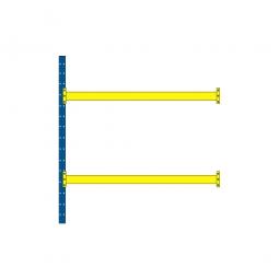Paletten-Anbauregal mit 2 Paar Tragbalken für 9 Europaletten, Tragkraft 4600 kg/Tragbalkenpaar, BxTxH 2785 x 1100 x 3000 mm